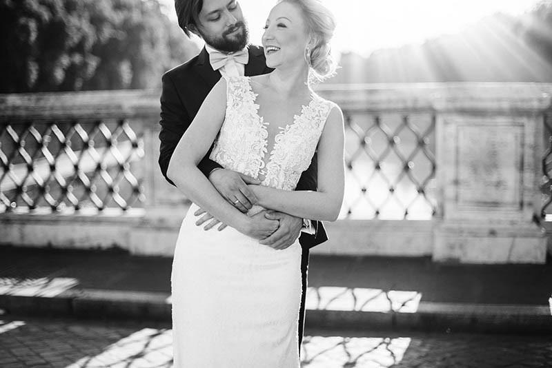 sesja ślubna w Rzymie Most Anioła