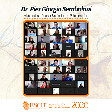03-Masterclass Pier Giorgio Semboloni, Pensar Sistémico en Psicoterapia. El modelo de Milá
