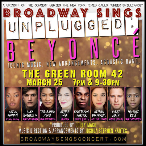 Broadway Sings Beyonce: Unplugged