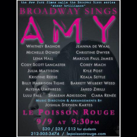 Broadway Sings Amy Winehouse