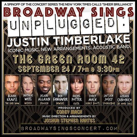 Broadway Sings Justin Timberlake: UNPLUGGED