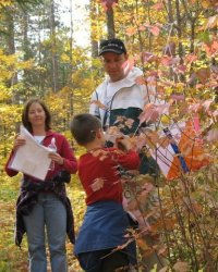 A family on an orienteering course