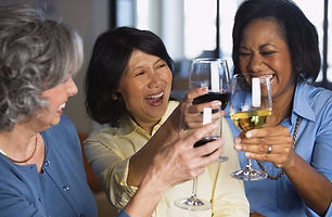 women celebrating retirement