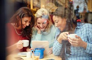 Happy women financial wellness money enjoy life