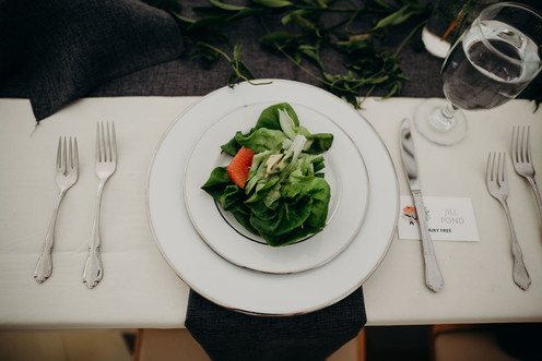 Plated Butter Lettuce Salad