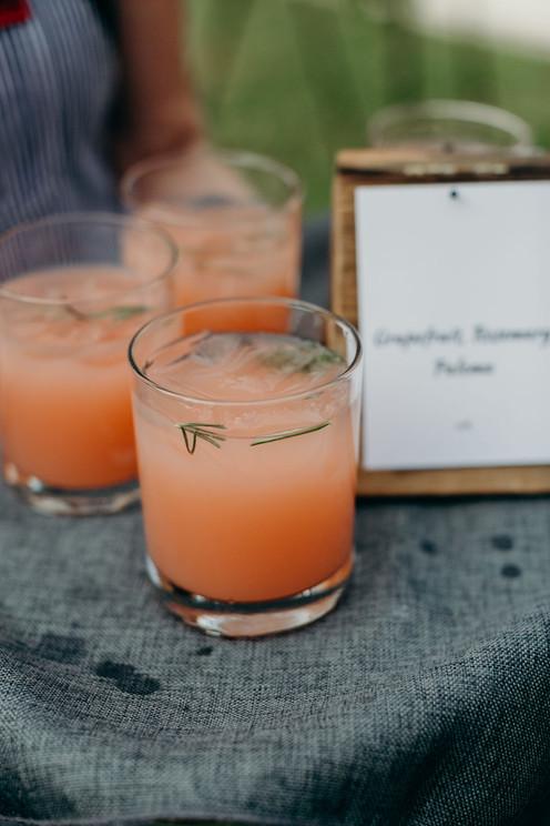 Rosemary   Grapfruit Paloma Mocktail