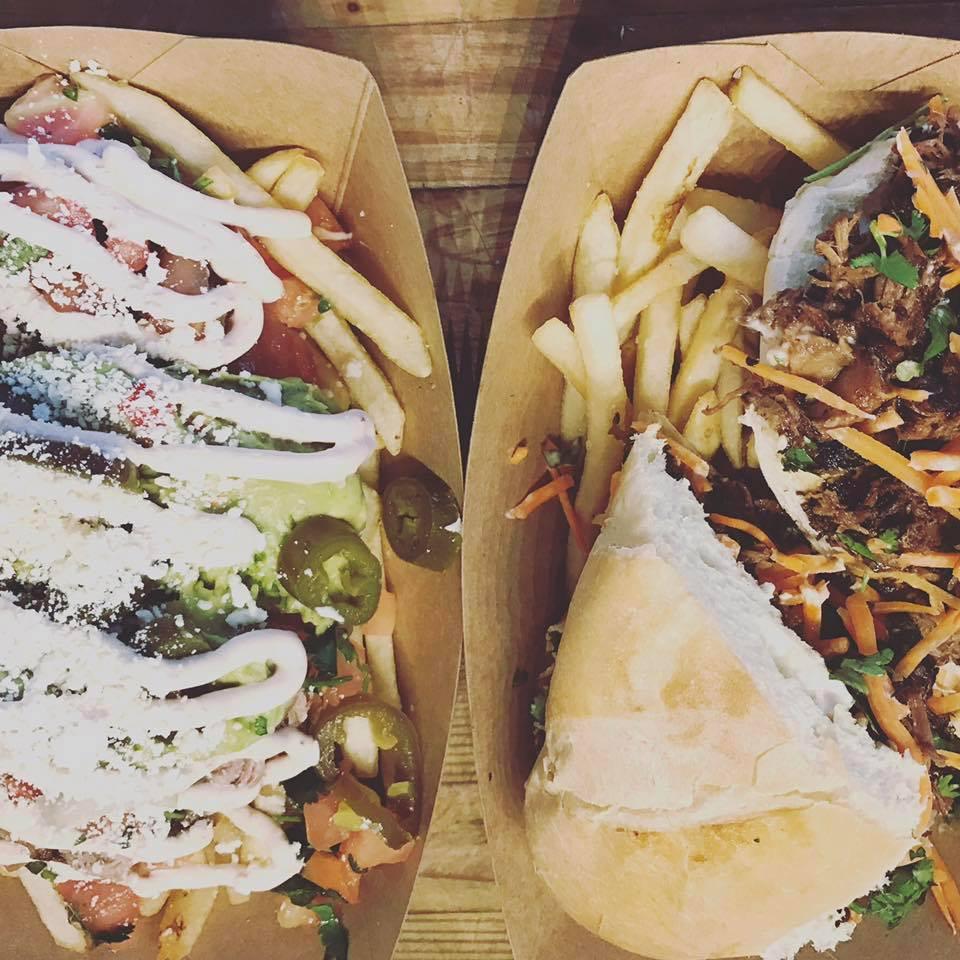 Tijuana Street Fries + Korean Hot Beef Banh Mi Sandwich