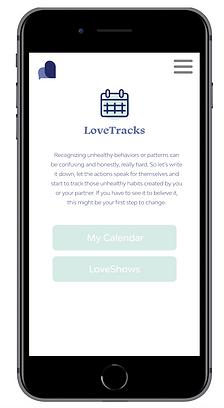 LoveTracks homepage
