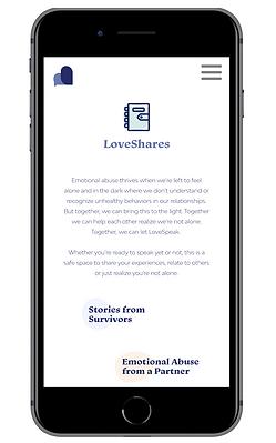LoveShares homepage