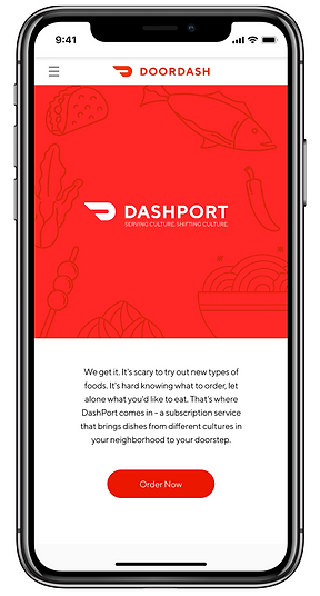 Dashport: serving culture. shifting culture. We get it. It's scary to try out new types of foods. It's hard knowing what to order, let alone what you'd like to eat. That's where DashPort comes in - a subscription service that brings dishes from different cultures in your neighborhood to your doorstep. Order now.