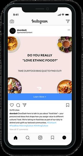 Ad on Instagram