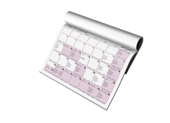 """לוח שנה לועזי-עברי משמאל לימין - תשע""""ט"""
