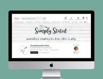 Simply Stated Print Shop Etsy