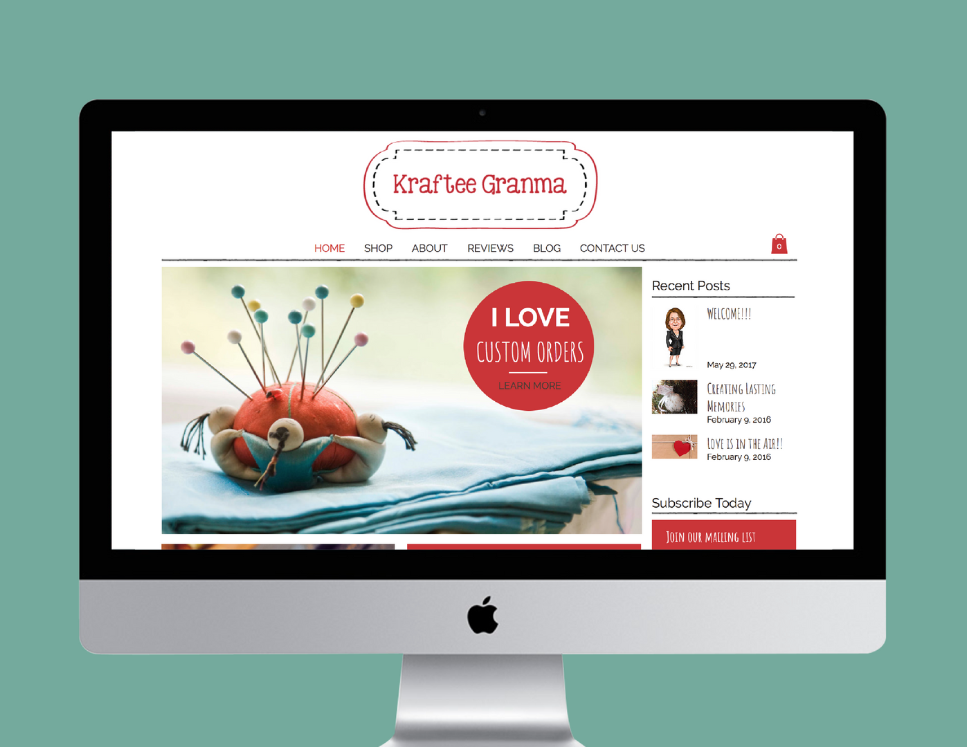Kraftee Granma E-Commerce Website