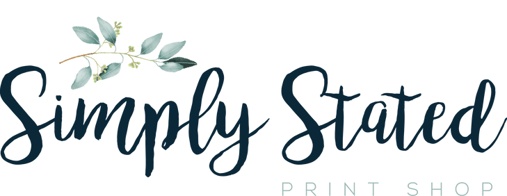 Simply Stated Print Shop Logo