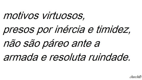 Churchill sobre a virtude