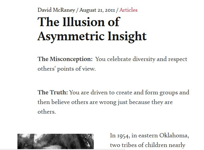 The Illusion of Assymetric Insight