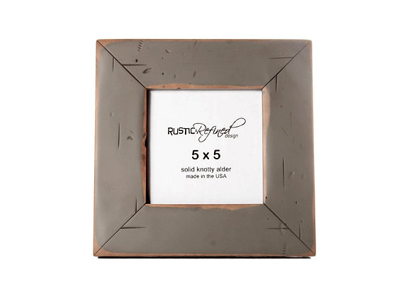 5x5 Cabin Picture Frame - Grey Green