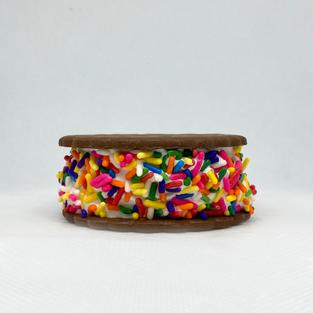 Rainbow Sprinkle-Vanilla Saucers (6 Pack)