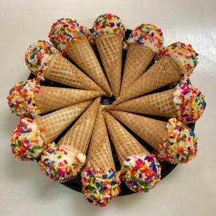 Vanilla-Rainbow Sprinkle Mini Cone (12 Pack)