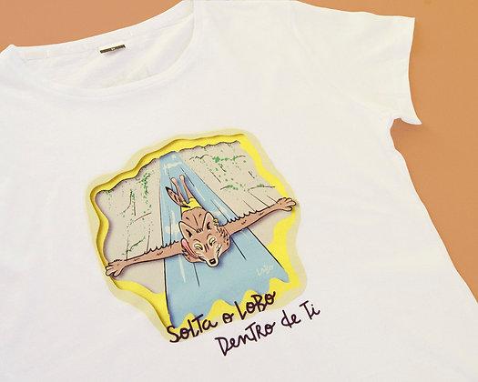 T-shirt Solta o LoBo Dentro de Ti