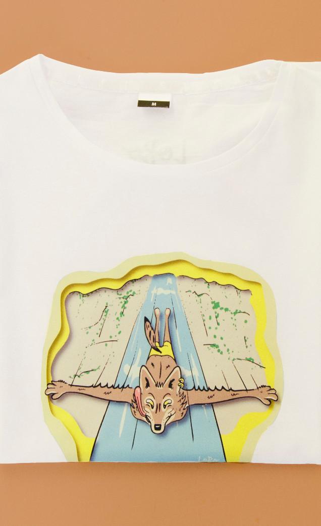 T-shirt Solta o Lobo Dentro de Ti (3.sit