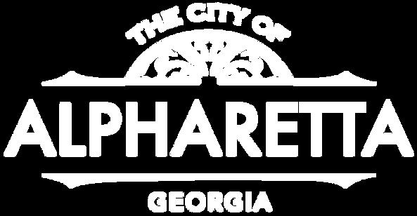 Alpharetta Georgia Logo - White Letters.