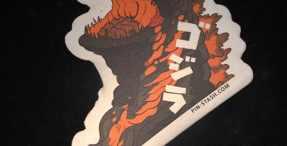 """Godzilla 3"""" Vinyl Sticker"""