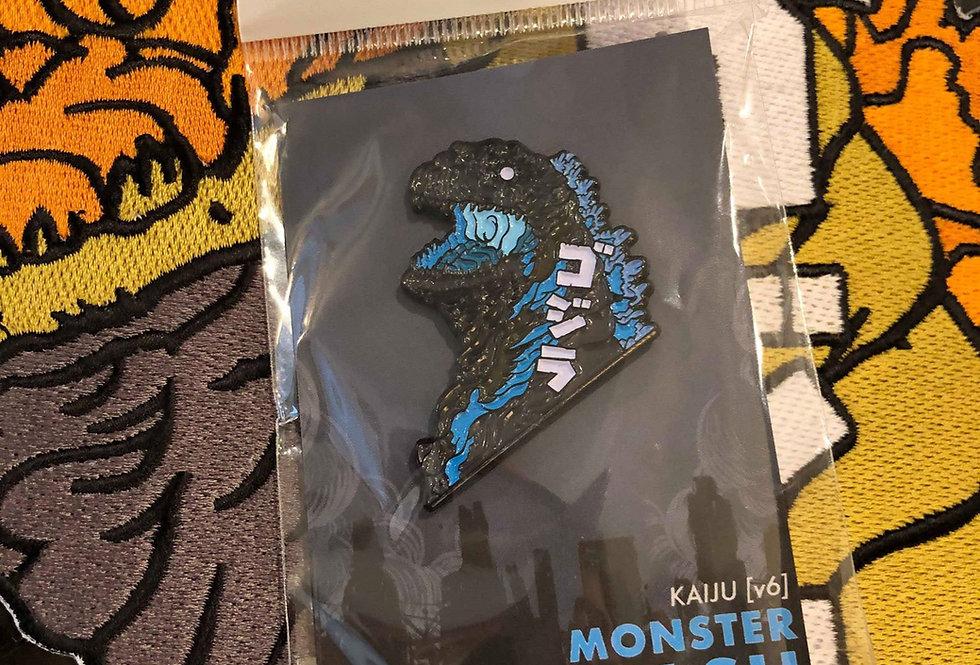 Godzilla Blue Enamel Pin