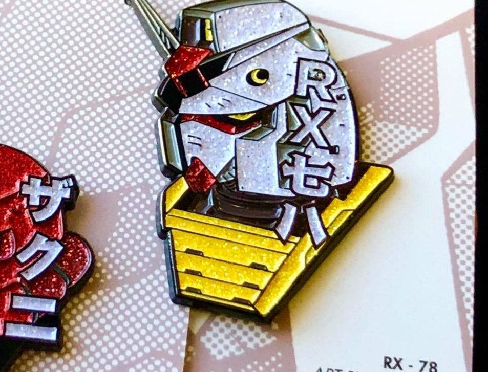 Gundam RX 78 Enamel Pin