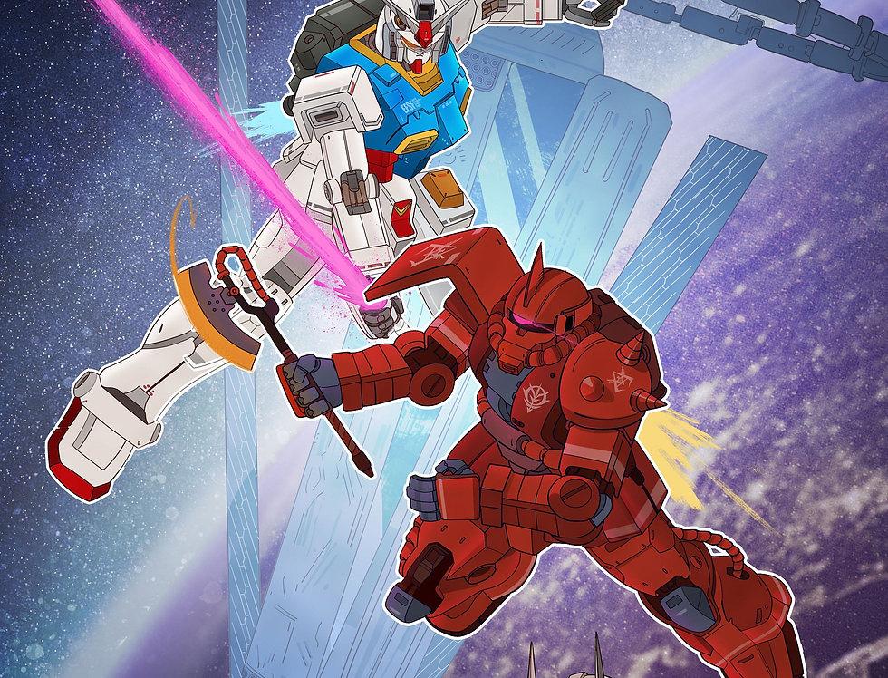 Gundam x Zaku Print
