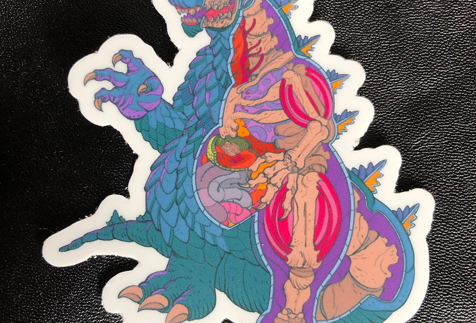 "Godzilla Cutaway 3"" Vinyl Sticker"