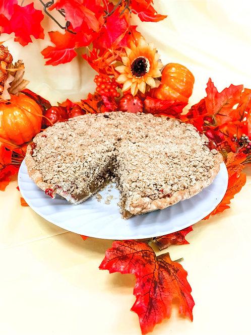 Organic  Apple Cranberry Crumb Pie (Winter)