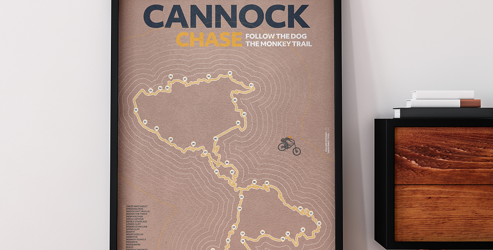 Cannock Chase map