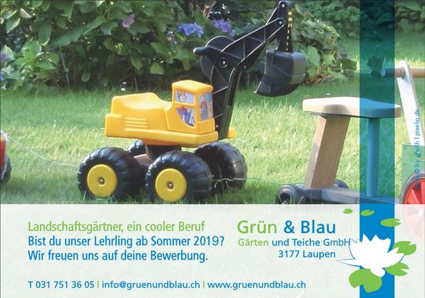Werde Landschaftsgärtner...          Lehrstelle für 2019