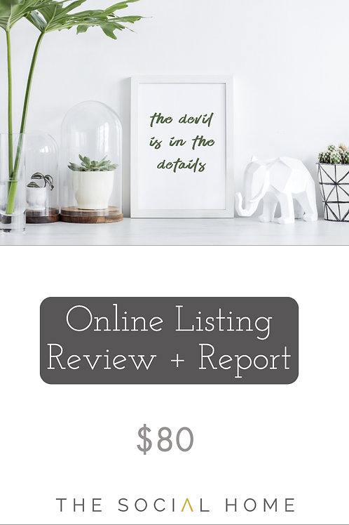 Listing Review + Report