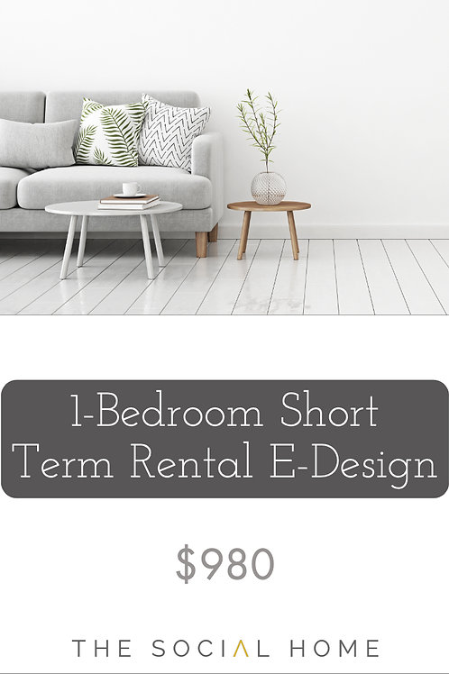 1-Bedroom Short Term Rental E-Design