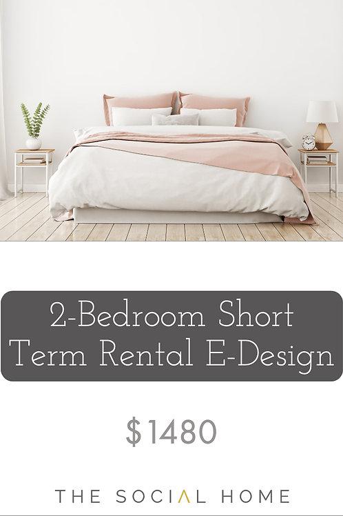 2-Bedroom Short Term Rental E-Design