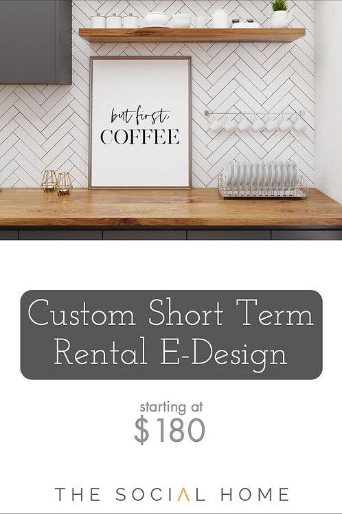 Custom Short Term Rental E-Design
