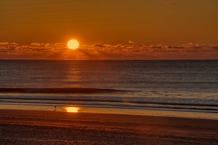 An Autumn Sunrise at the Jersey Shore