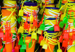 A Stack of Beach Buckets