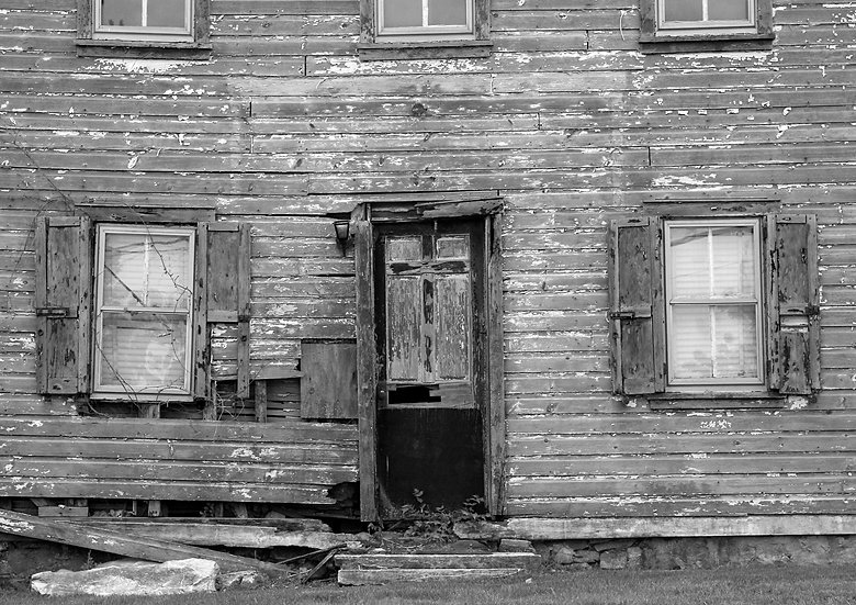 OLD BUCKS COUNTY HOUSE IN B/W img#100186