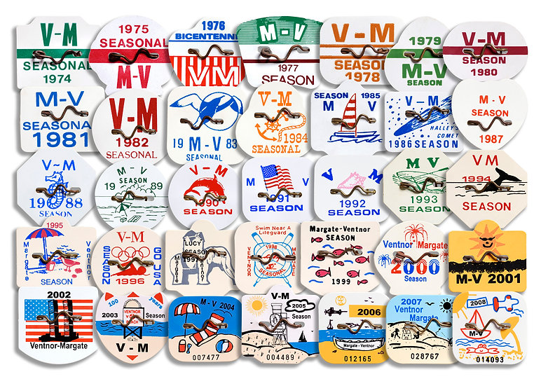 FIRST 35 YEARS OF MARGATE-VENTNOR BEACH TAGS