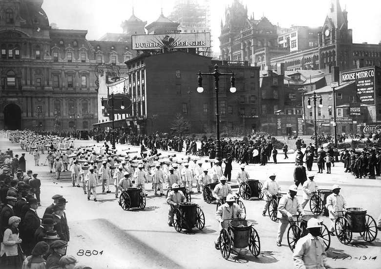 PHILADELPHIA STREET CLEANERS PARADE APRIL 20, 1914 img#100811