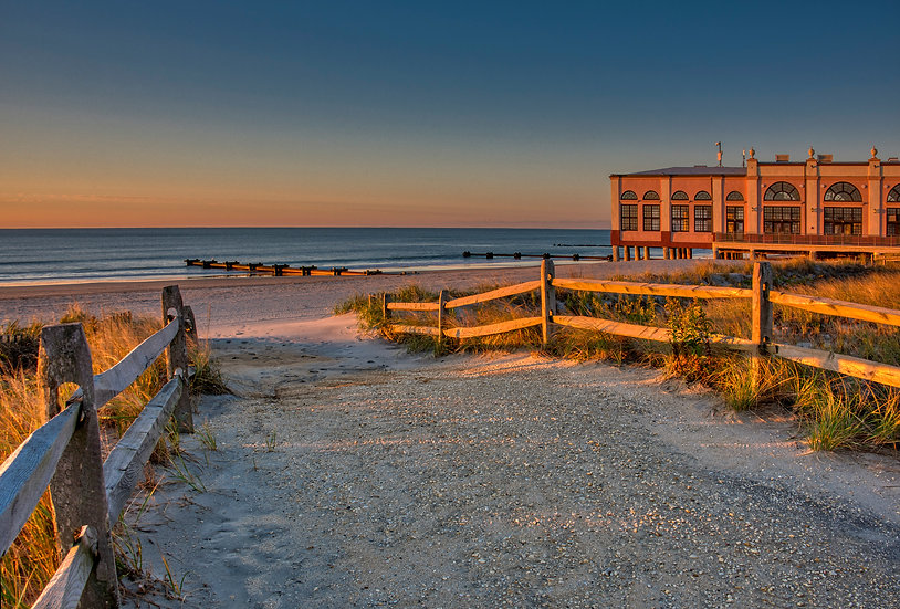 8th Street Beach Path at Sunrise, Ocean City, NJ