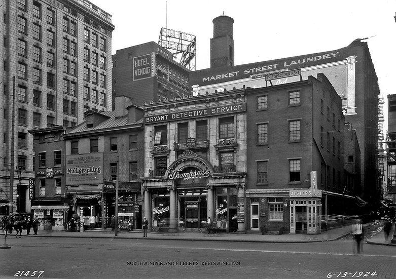 North Jumiper St. and Filbert St. June 13, 1924.Img.#100534.