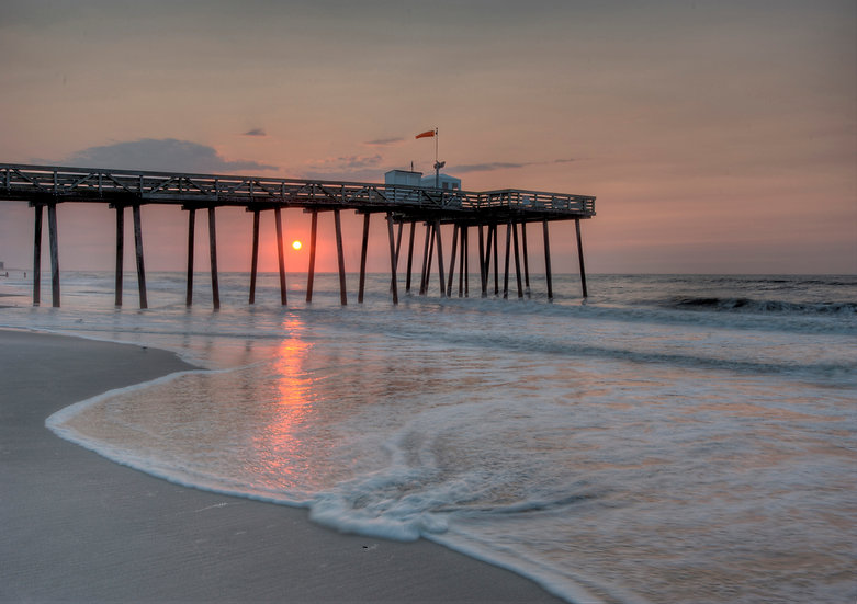 Fourteenth Street Fishing Pier at Sunrise, Ocean City, NJ