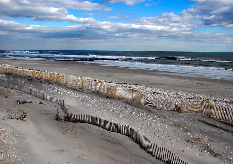 WHALE BEACH IN WINTER, STRATHMERE, NJ