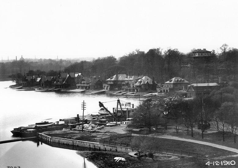 Phila. Boat House Row May, 1910. Omg.#100538.