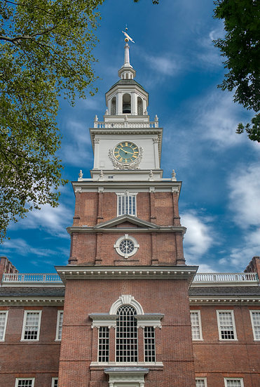 THE SOUTH SIDE OF INDEPENDENCE HALL IN SUMMER IMG.#100925